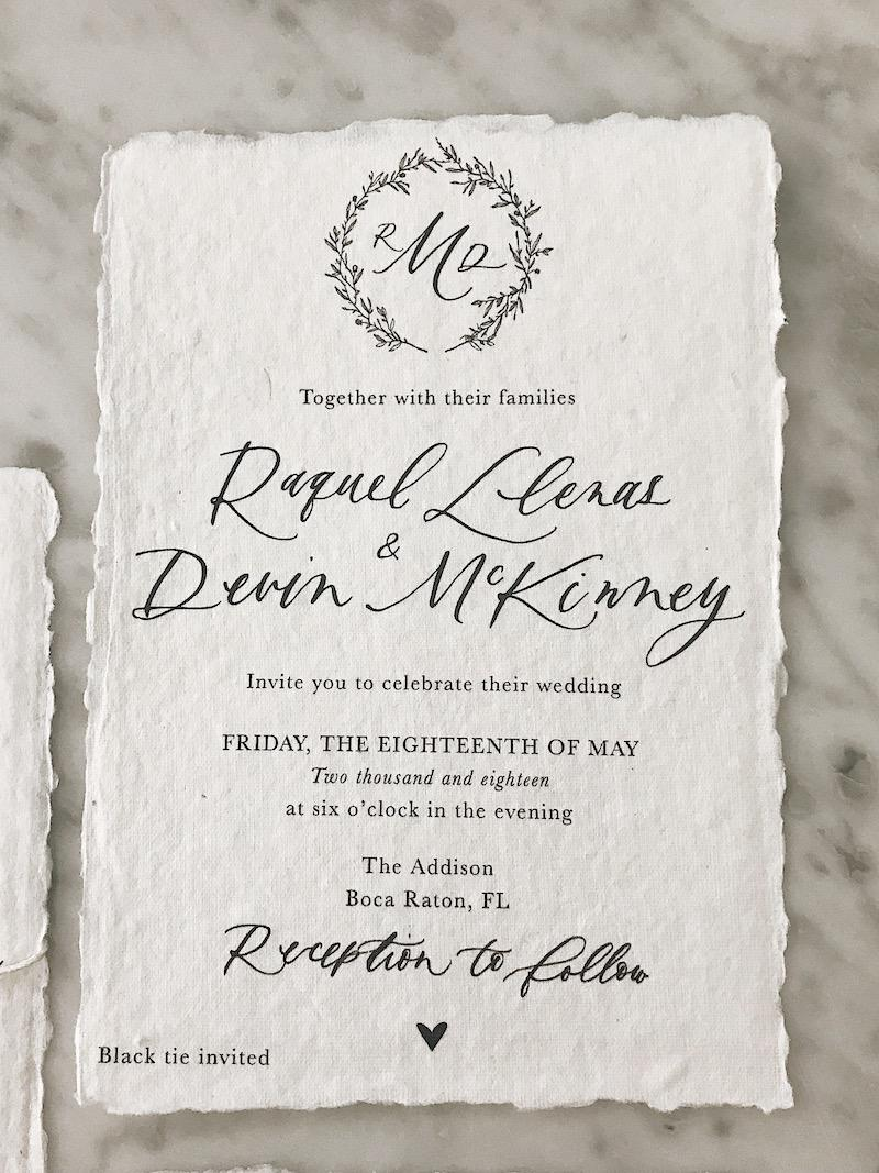Our Wedding Invitations | Raquel McKinney